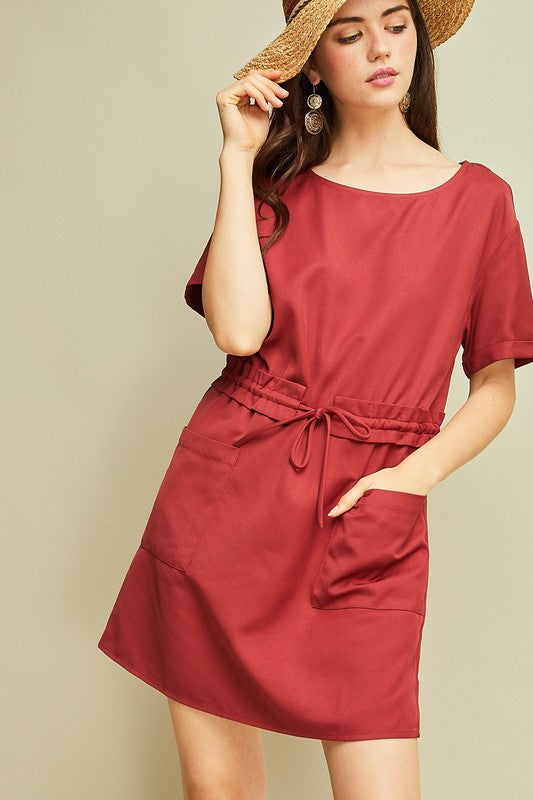 bf321ef5ca Marisa Cargo Dress in Deep Red – Spruced Boutique