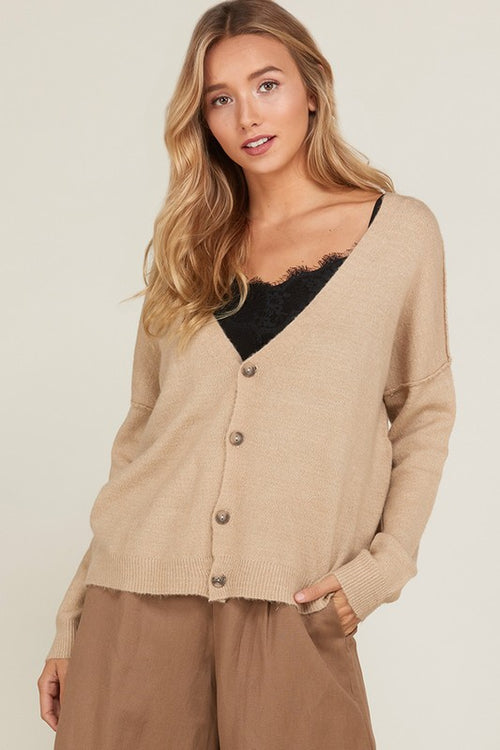 Mallory Cardigan in Taupe