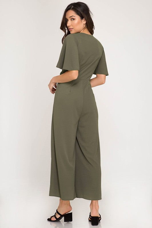 Harper Jumpsuit in Olive