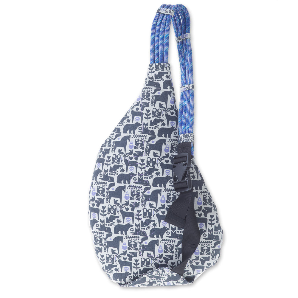 KAVU Rope Bag in Charcoal Fable