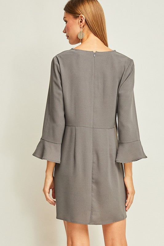 Krista Dress in Charcoal