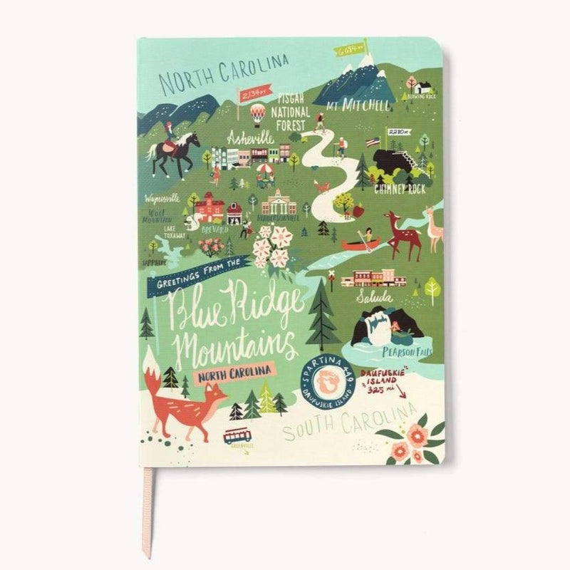 Blue Ridge Mountains Ruled 5x7 Notebook by Spartina 449