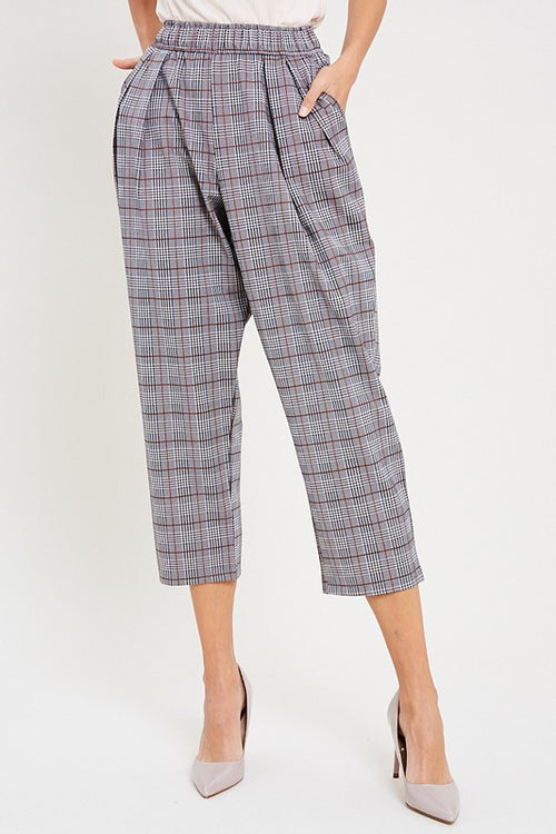 Zia Plaid Pants in Rust