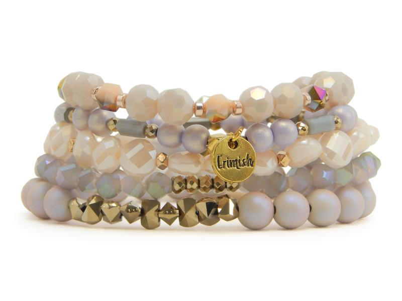 Erimish Stack of Five Stretch Bracelets in Aloha