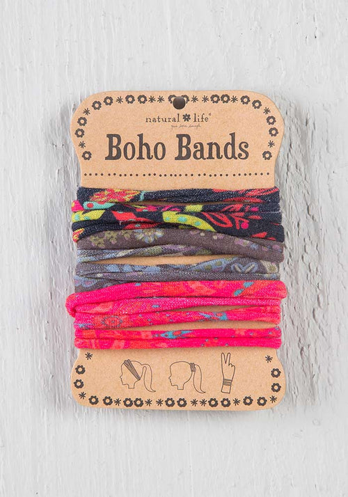 Boho Bands in Black Charcoal Pink Multicolor