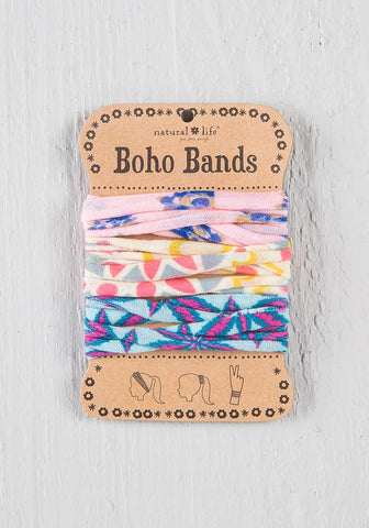 Boho Bands in Orange Pink Green Tie Dye