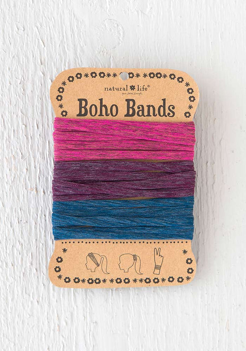 Boho Bands in Navy Red Purple Spandex