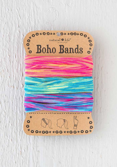 Boho Bands in Pink Turquoise Lime Spandex