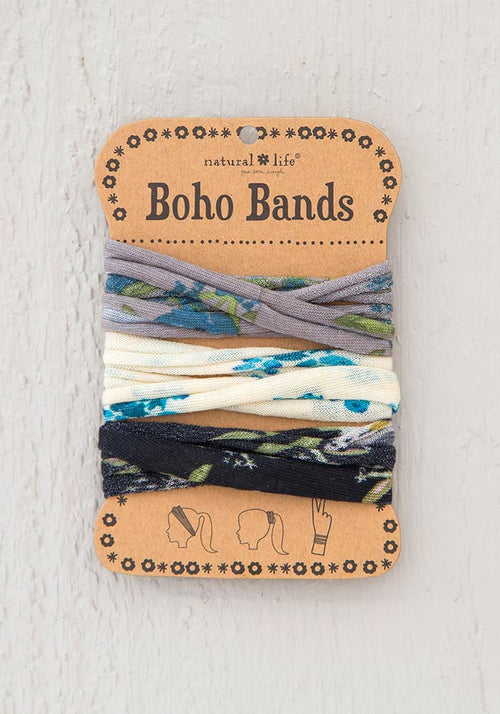 Boho Bands in Blue Floral Combo