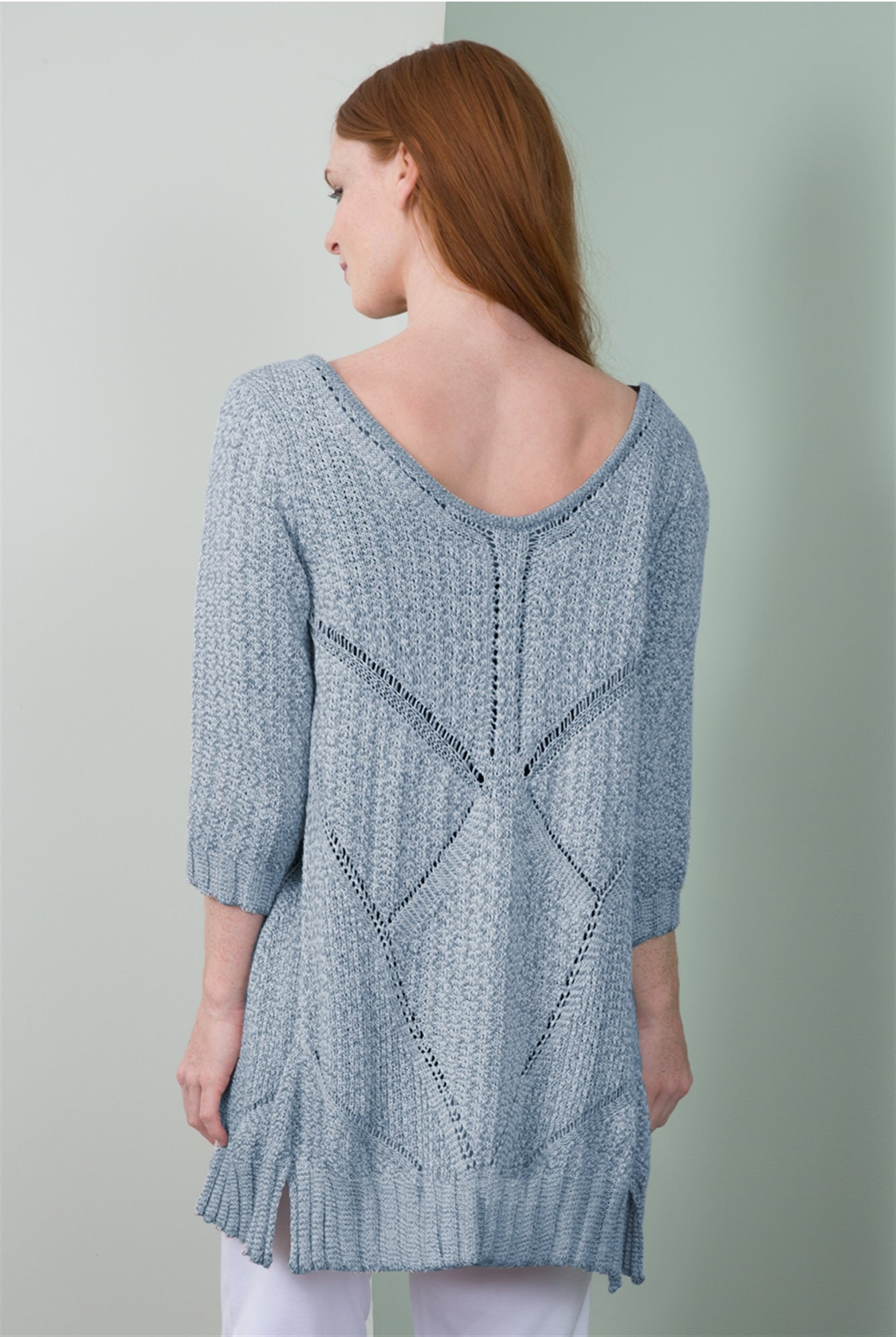 Summer Breeze Cardigan in Light Denim, Palm or Pearl