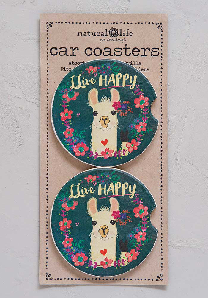 Car Coaster Set of Two - LLive Happy