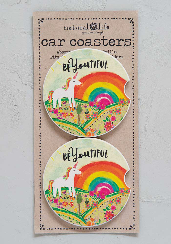 Car Coaster Set of Two - BeYOUtiful!