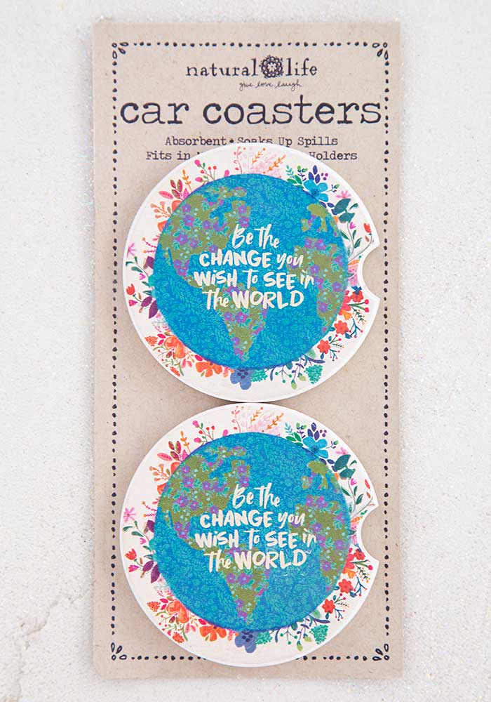 Car Coaster Set of Two - Be The Change