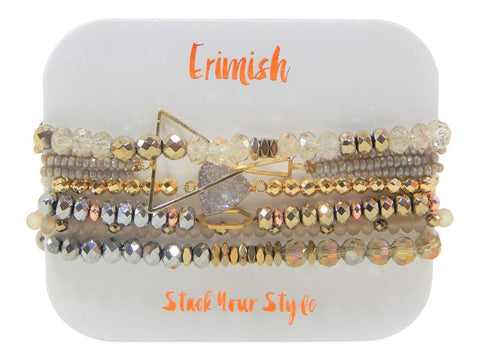 Erimish Metals Stack in Rose