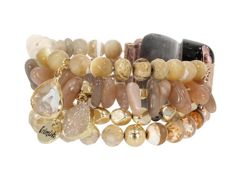 Erimish Druzy Stack in Hexagon