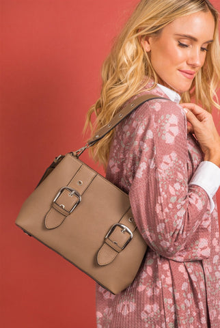 Buckle Convertible Backpack to Handbag