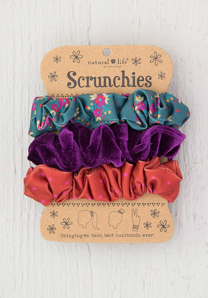 Scrunchie Set in Teal Floral