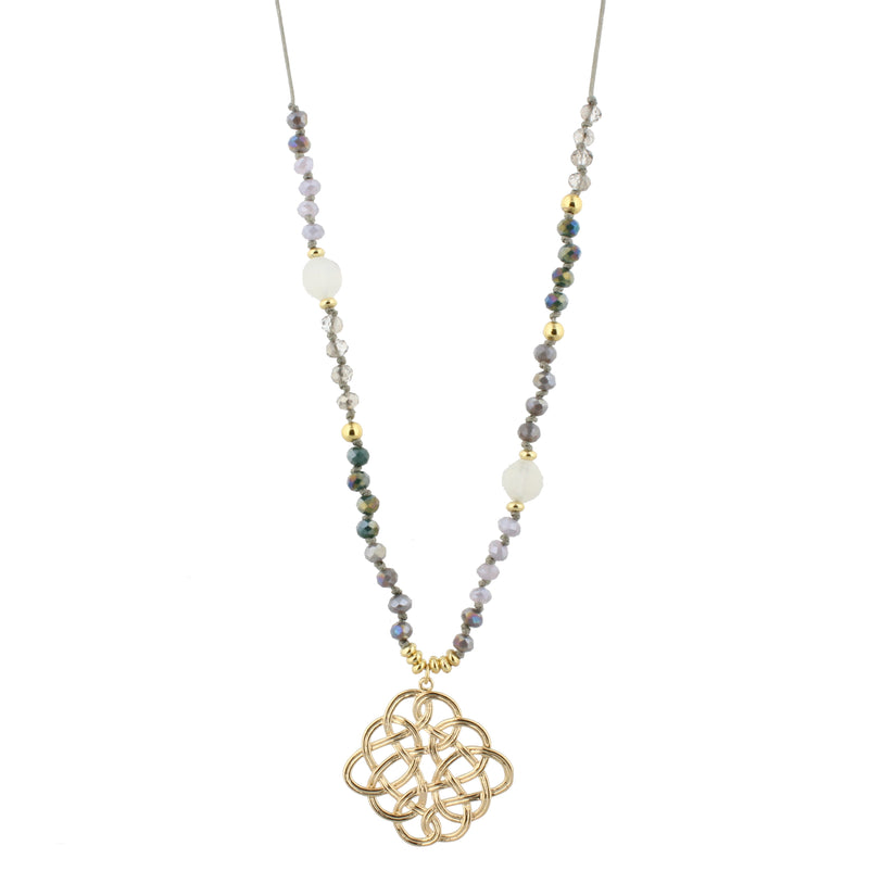 Jasmine Collection Necklace in Purple and Teal