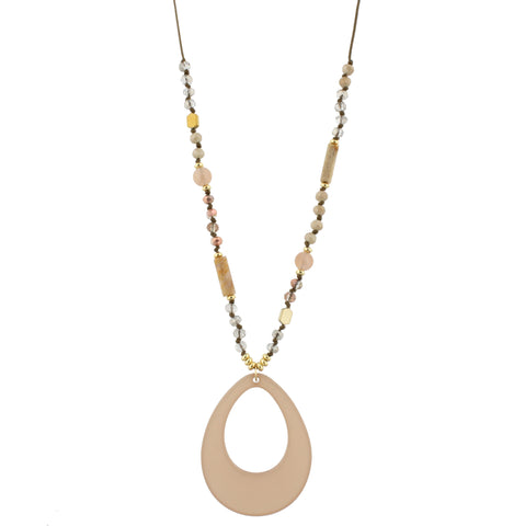 Sloane Necklace in Champagne