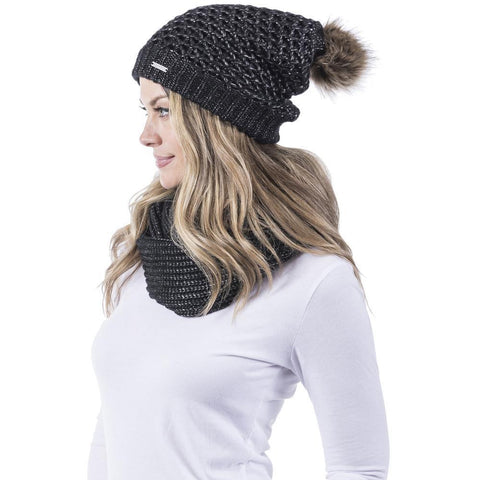 CC Beanie Ponytail Headband in Black