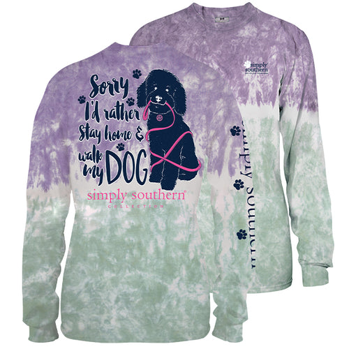 "Simply Southern ""Walk My Dog"" Long Sleeve T-Shirt in Bohemian"