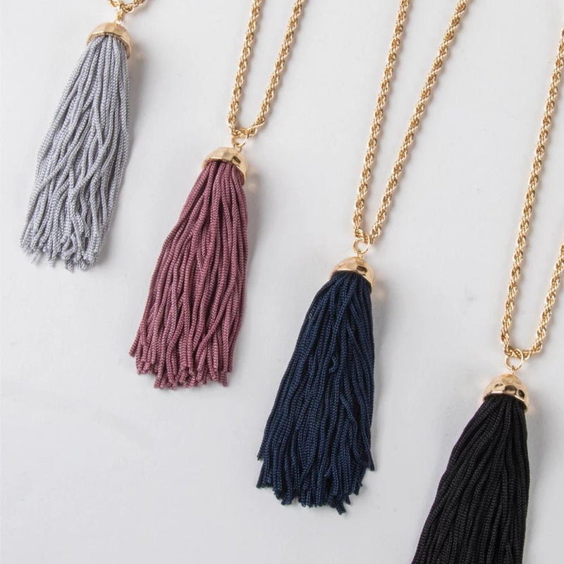 Paisley Park Tassel Necklace