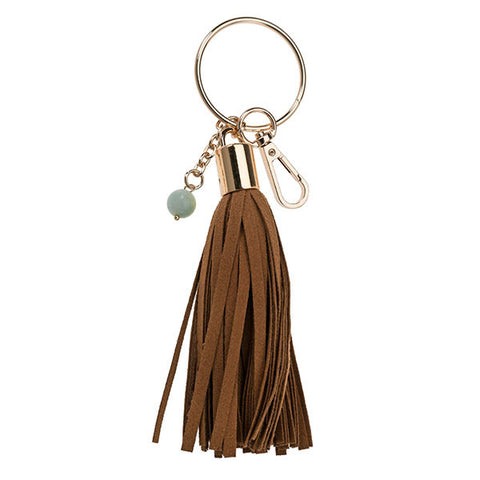 Genuine Leather Key Chain in Snake