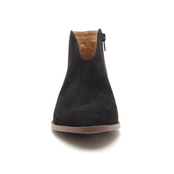 Rachel Suede Bootie in Black