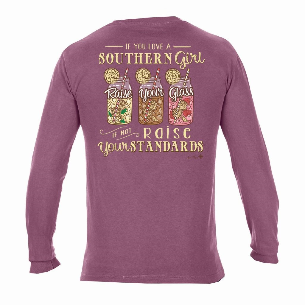 If You Love A Southern Girl Long Sleeve T-Shirt in Berry
