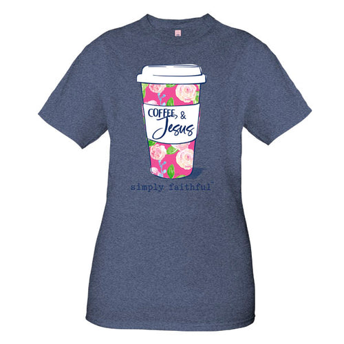 "Simply Southern ""Coffee & Jesus"" in Denim"