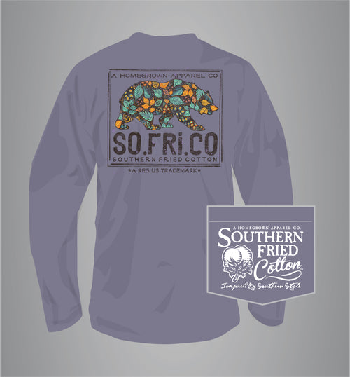 "Southern Fried Cotton's ""Harvest Wishes"" Long Sleeve T-Shirt in Plum Perfect"