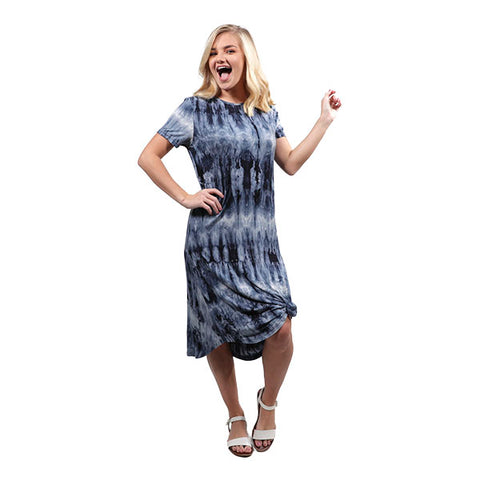 Simply Southern Swing Dress in Blue Tie Dye