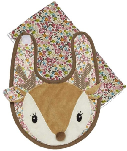Farrah the Fawn Boxed Bib & Burp Set