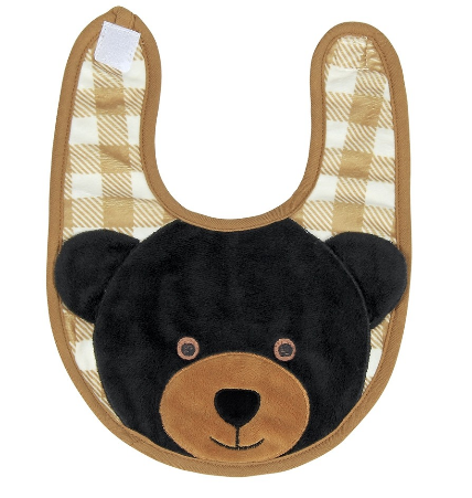 Griffin the Black Bear Bib