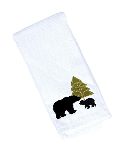 Griffin the Black Bear Single Burp Cloth