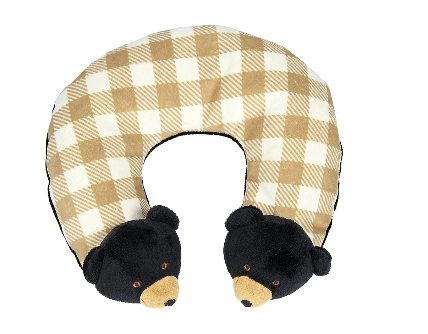 Griffin the Black Bear Travel Pillow