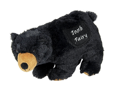 Griffin the Black Bear Tooth Fairy Plush Toy