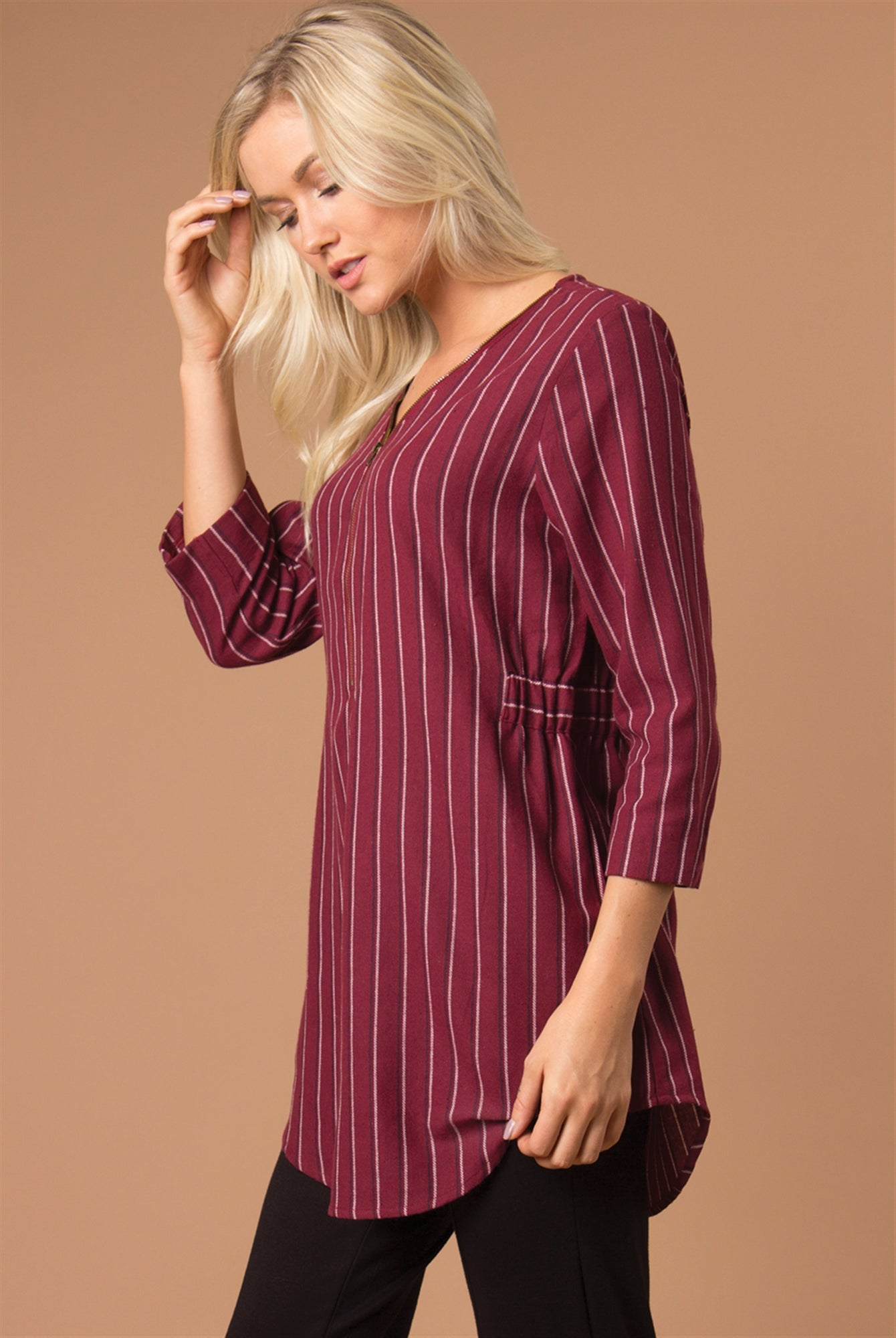 Pinstripe Hype Top