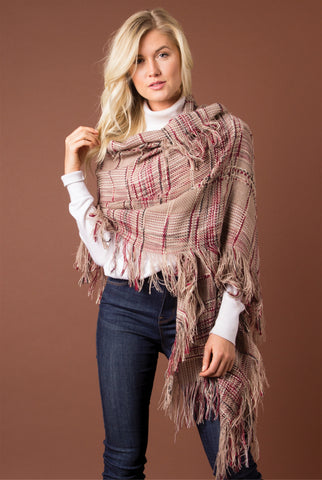 Kelsey Distressed Sweater in Light Sienna