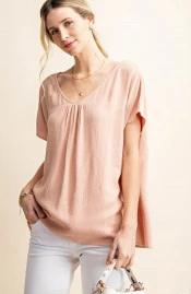 Keegan Drop Shoulder Top in Mauve