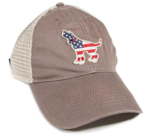 "Southern Fried Cotton ""American Hound"" Trucker Hat in Driftwood"