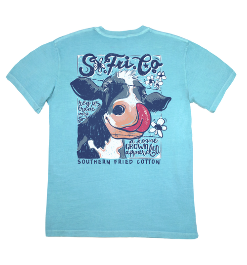 "Southern Fried Cotton's ""Cow Lick"" Short Sleeve T-Shirt"