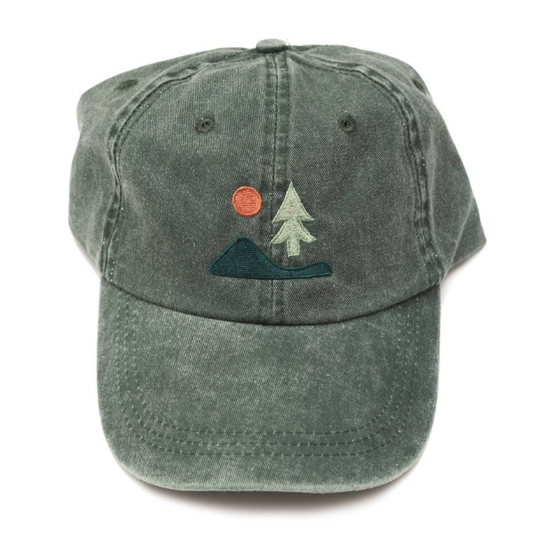 Lone Pine Dad Hat in Forest