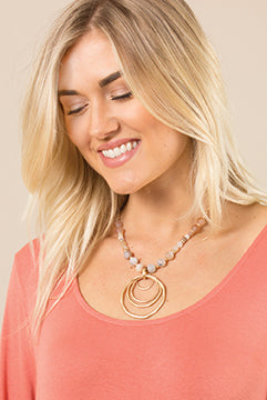 Catch The Wave Circle Necklace