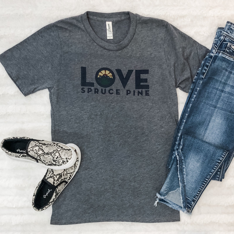 LOVE Spruce Pine T-Shirt in Gray