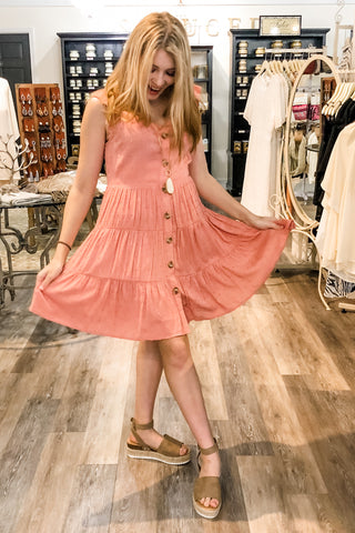 Mary Kate Shift Dress in Rose