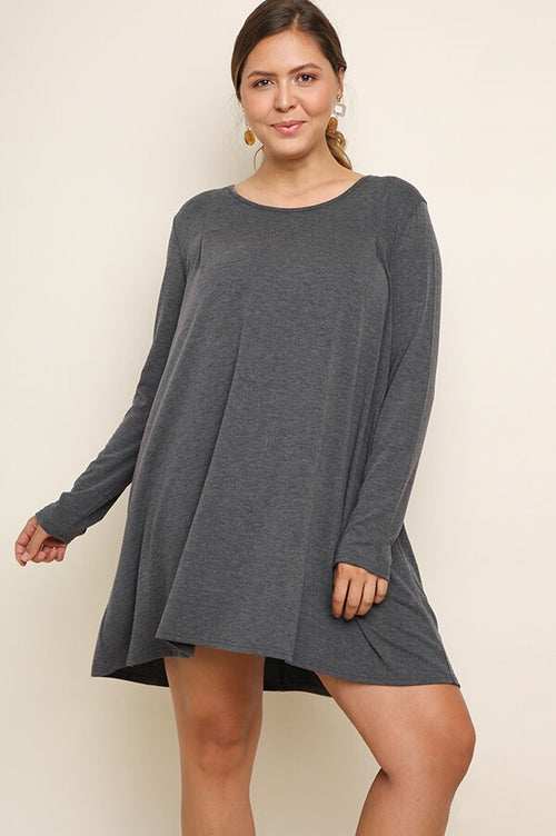 Holly PLUS Dress in Charcoal