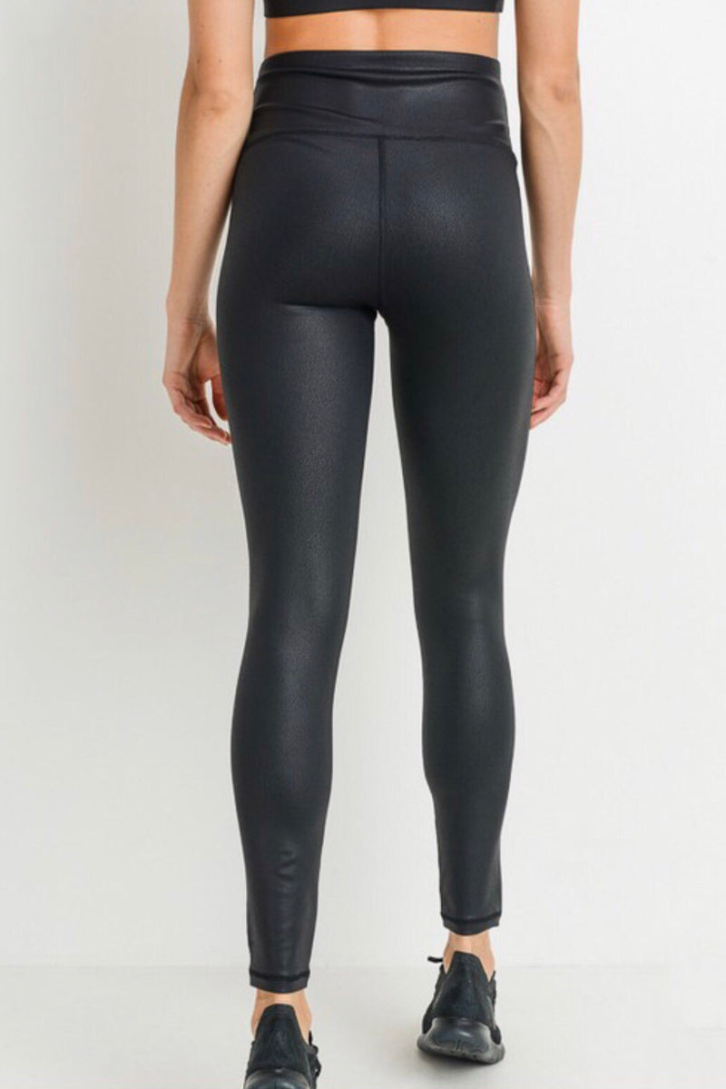 Brooke Leggings in Black Foil