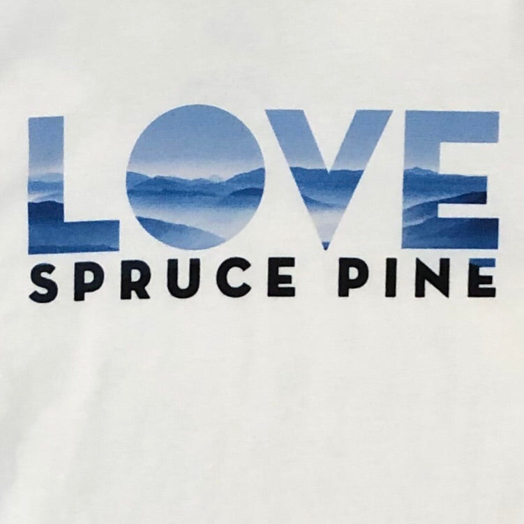 LOVE Spruce Pine Long Sleeve T-Shirt in White