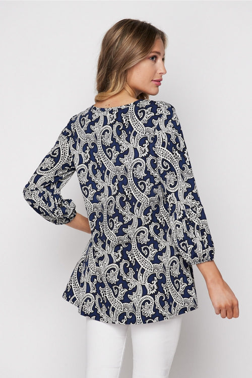 Dharma Top in Navy